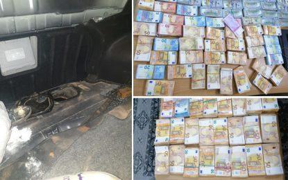 Trafic de devises: Saisie de plus de 370.000 euros et 199.000 dollars à Ben Guerdane