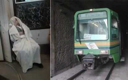 Une rame de métro bloquée pendant… 3 heures au tunnel du Bardo (Photos)