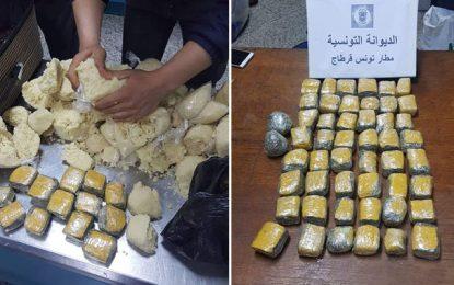 Aéroport Tunis : De la nourriture fourrée de marijuana en provenance d'Abidjan
