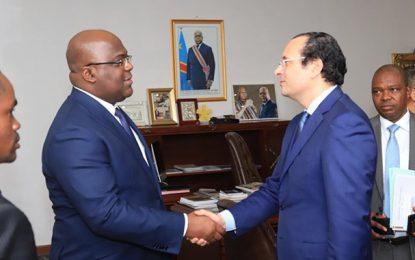Walid Loukil reçu par le président du RD Congo, Felix Tshisekedi