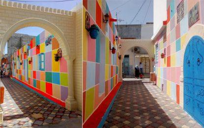 Monastir : Des artistes embellissent une avenue délabrée à Bennane Bodheur