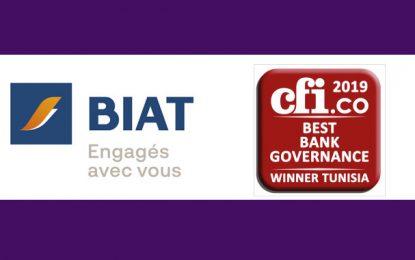 Biat : Prix de la Meilleure gouvernance bancaire en Tunisie 2019, décerné par Capital Finance International