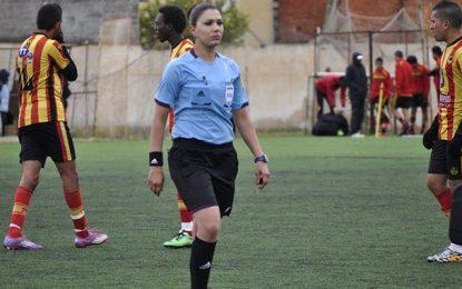 Ligue 1 : Une arbitre femme, Dorsaf Ganouati, pour le match Espérance – Club bizertin