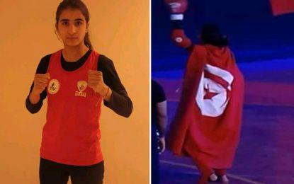 El Menzah : La Tunisienne Ghofrane Abdellaoui championne arabe de kick boxing