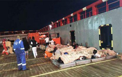 Navire bloqué au large des côtes tunisiennes: Les migrants acceptent de repartir