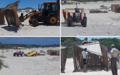 Bizerte : La plage de Ras Angela débarrassée de l'anarchie des commerçants