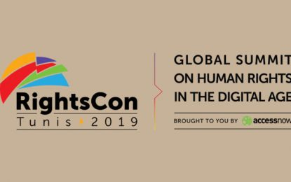La conférence internationale RightsCon à Tunis du 11 au 14 juin 2019