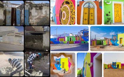 L'artiste Mohamed Karmi redonne vie à un vieux quartier de Médenine (photos)