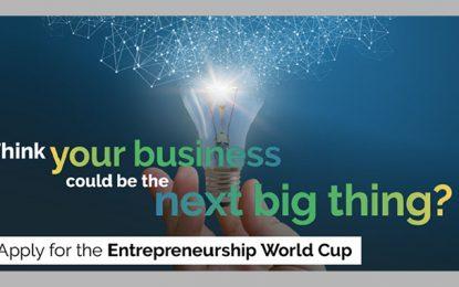 Coupe du monde de l'entrepreneuriat: appel à candidatures avant le 15 juin