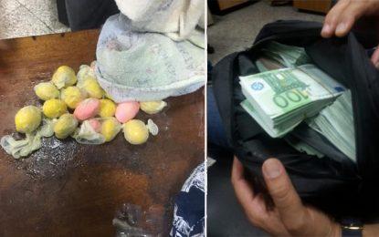 Trafic de devises et de cocaïne avorté à l'aéroport de Tunis-Carthage (en photos)