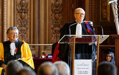 Hommage de la Sorbonne à Béji Caïd Essebsi, l'ancien étudiant devenu président de la Tunisie