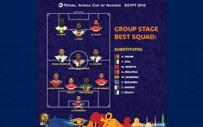 CAN 2019 : Aucun Tunisien dans l'équipe-type du premier tour