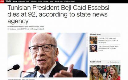 CNN : «Essebsi est félicité pour avoir dirigé le 1er succès démocratique des révolutions qui ont renversé des dictateurs»