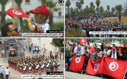 Salut militaire, hymne national, larmes et youyous : Les Tunisiens accompagnent leur président à sa dernière demeure (Photos)