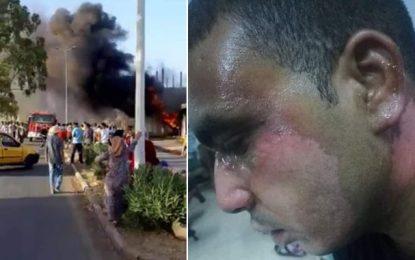 Kasserine : Un pompier brûlé en essayant d'éteindre un incendie dans un dépôt de carburant de contrebande