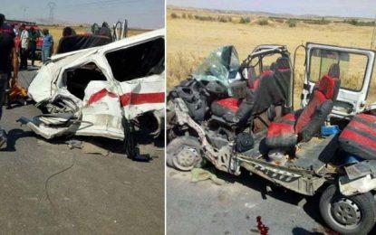 Trois morts et 5 blessés dans un terrible accident de la route au Kef