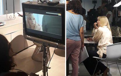 Monica Bellucci, en tournage à Tunis, se rend à Dar Alaïa à Sidi Bou Saïd