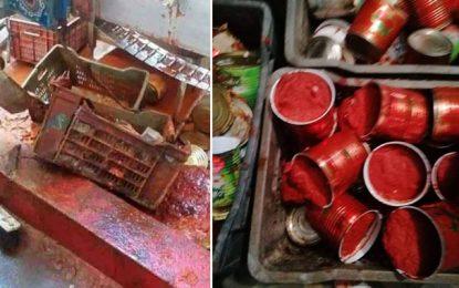 Nabeul: Des tomates en conserve périmées, mises en boîte dans une usine et vendues aux commerces
