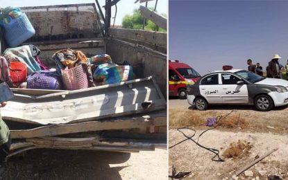 Sidi Bouzid : Douze ouvriers agricoles, en majorité des femmes, blessés dans un accident  de la route