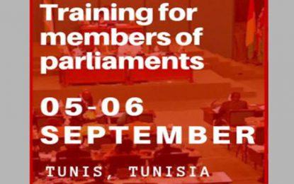 Des parlementaires tunisiens en formation les 5 et 6 septembre 2019 à Tunis
