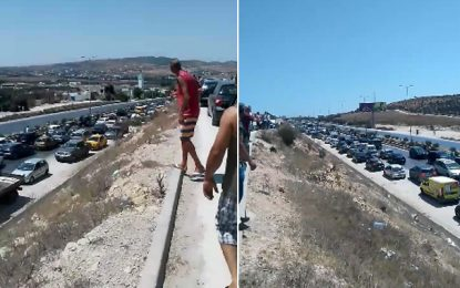 Ariana : Des citoyens, sans eau depuis 2 jours, bloquent l'autoroute Tunis-Bizerte (Photos)