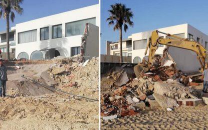 Hammam-Sousse : Démolition de constructions illégales sur le domaine public maritime (vidéo)
