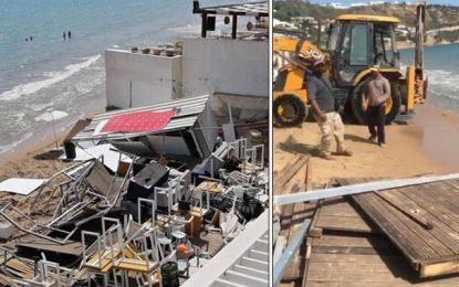 Critiquée pour avoir appliqué la loi: La mairie de la Marsa explique les raisons de la démolition du bar de la Tour Blanche