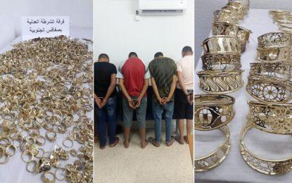 Braquage d'un atelier de fabrication de bijoux en or à Sfax : Quatre individus arrêtés et le butin récupéré (Photos)