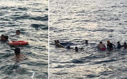Migration clandestine :  Sauvetage en mer de deux embarcations à Zarzis et à Nabeul (Photos)