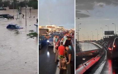 Inondations à Borj Louzir : Des habitants bloquent les routes, des automobilistes bloqués depuis plus de 2 heures !