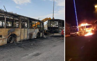 Djerba : Enquête sur l'incendie de 2 bus de la Société régionale du transport de Médenine (vidéo)