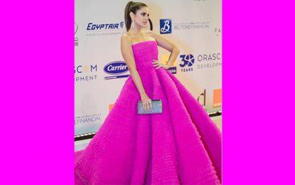 Quand la robe de Dorra Zarrouk fait sensation au Festival du Cinéma d'Al Gouna en Egypte