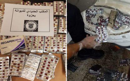 Tozeur : Quatre Algériens arrêtés en possession de 7.502 pilules de médicaments utilisés comme drogue