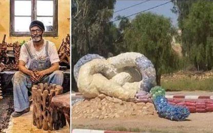 Installation dans un rond-point de Ghomrassen : L'artiste assure qu'il voulait choquer (vidéo)