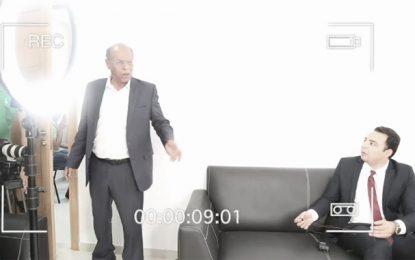 Marzouki sur Euronews : Excédé, il jette le micro sur le journaliste et quitte le studio (Vidéo)