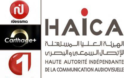 Présidentielle :  Nessma TV, Watania et Carthage + sanctionnées pour publicité politique illégale