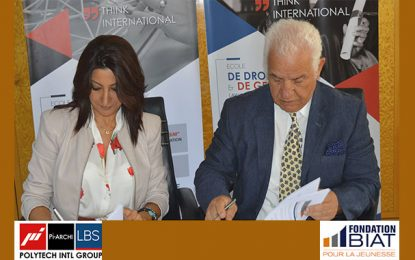 Programme Spark: la Fondation Biat pour la Jeunesse signe une convetion avec Polytech Intl Group