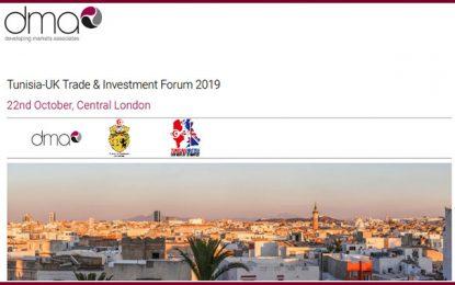 Le commerce et l'investissement en Tunisie, en conclave à Londres, le 22 octobre 2019