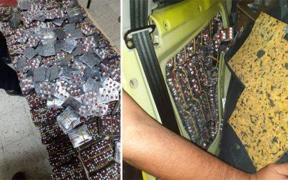 Dhehiba : Saisie de 14.742 pilules de drogue à la frontière tuniso-libyenne (Photos)