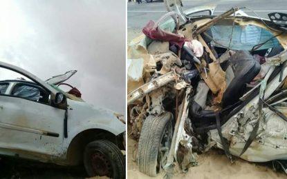 Quatre membres d'une même famille décèdent dans un accident de la route à Gafsa