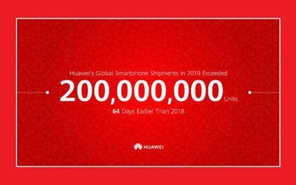 Huawei anonce avoir livré 200 millions de smartphones en 2019