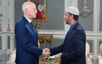 Saïd Jaziri (Parti Errahma) reçu au Palais de Carthage par le président de la république Kaïs Saïed