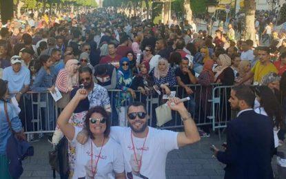 Présidentielle : Clôture de la campagne électorale de Kaïs Saïed au centre-ville de Tunis (Photos)