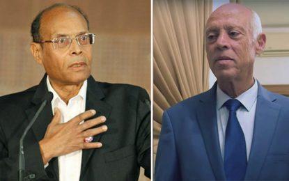 Marzouki annonce et explique son absence, demain, aux cérémonies de prestation de serment et d'investiture du président Saïed