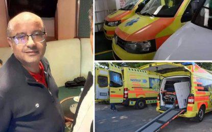 Najeh Farah, médecin tunisien résidant en Suisse, offre des ambulances et des équipements médicaux au gouvernorat de Tozeur