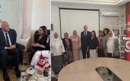 Kaïs Saïed reçu par l'Union nationale de la femme tunisienne