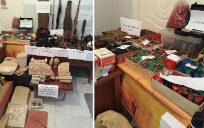 Béja : Armes, munitions et pièces archéologiques saisies à Testour (Photos)