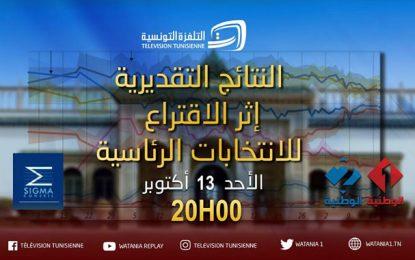 Présidentielle 2019 en Tunisie : les estimations du résultat du scrutin du 2e tour dimanche soir sur Watania1