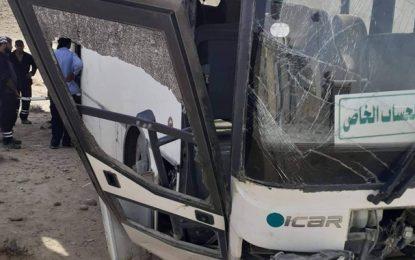 Metlaoui: Quatorze ouvriers de la CPG blessés dans accident de la route