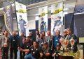 Ambiance festive créée autour du simulateur de course d'Agil Racing Team